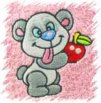 Dětský ručník s výšivkou - PANDA