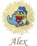 Dětská osuška s výšivkou - DINO a jméno