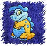 Dětský ručník s výšivkou - COOL DINO