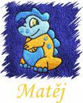 Dětský ručník s výšivkou - COOL DINO a jméno