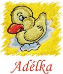 Dětský ručník s výšivkou - KAČENKA a jméno