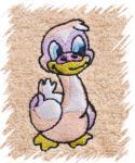 Dětský ručník s výšivkou - KACHNIČKA