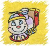 Dětský ručník s výšivkou - LOKOMOTIVA