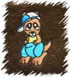 Dětský ručník s výšivkou - KLOKAN