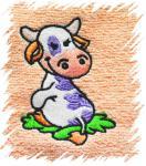 Dětský ručník s výšivkou - KRAVIČKA