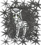 Ručník  s výšivkou - ZEBRA
