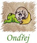 Dětský ručník s výšivkou - BATOLE a jméno