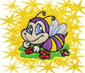 Ručník s výšivkou - VESELÁ VČELKA