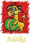 Dětský ručník s výšivkou - ŽIRAFA S MÍČEM a jméno