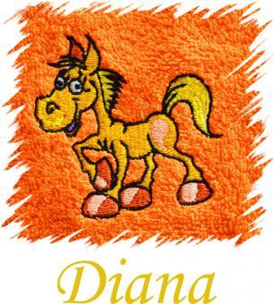 Dětský ručník s výšivkou - KONÍK a jméno