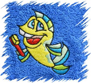Dětský ručník s výšivkou - MOŘSKÝ KONÍK