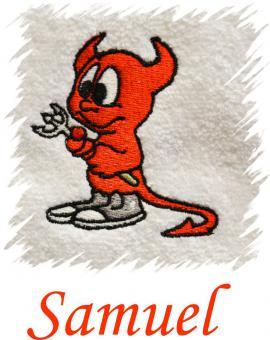 Dětský ručník s výšivkou - ĎÁBLÍK a jméno