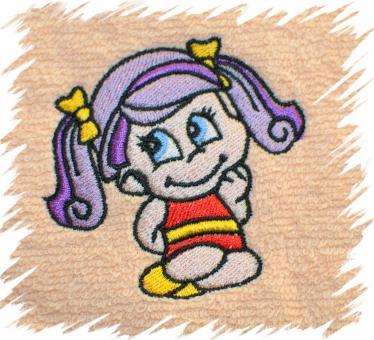 Dětský ručník s výšivkou - HOLČIČKA