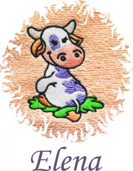 Dětská osuška s výšivkou - KRAVIČKA a jméno