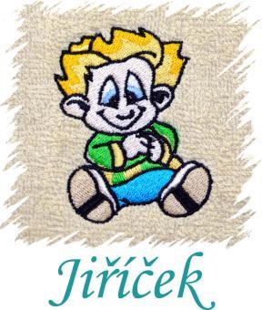 Dětský ručník s výšivkou - KLUK NEPOSEDA a jméno