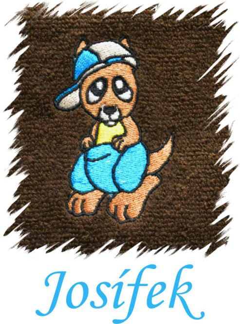 Dětský ručník s výšivkou - KLOKAN a jméno