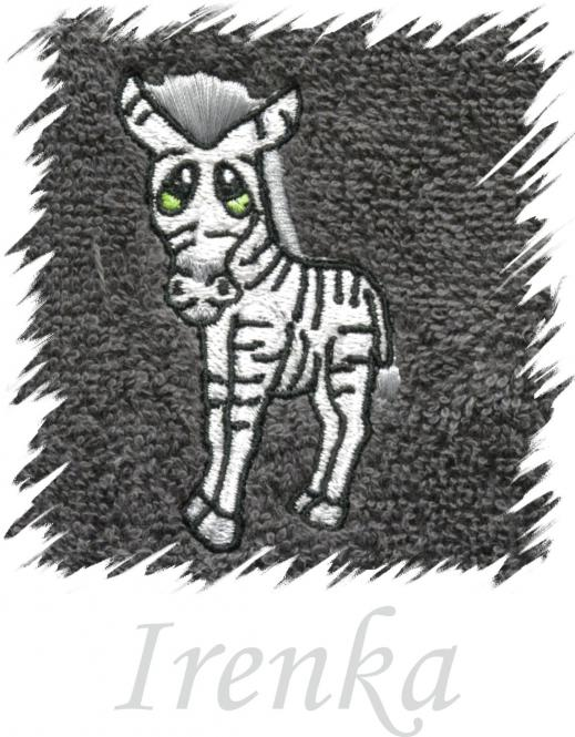Dětský ručník s výšivkou - ZEBRA a jméno