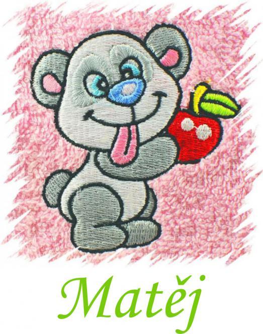 Dětský ručník s výšivkou  - PANDA a jméno